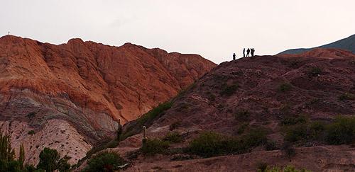 Hikers at Purmamarca