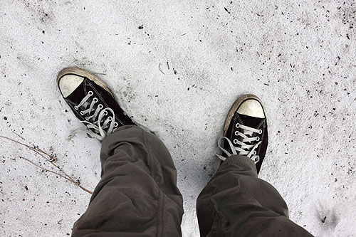 converse- the ideal field shoe for the sandy scrub