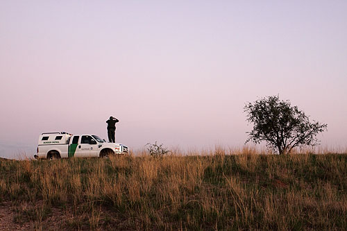 Proximity to the Mexican border meant a near constant presence of the U.S. Border Patrol in the filming area.